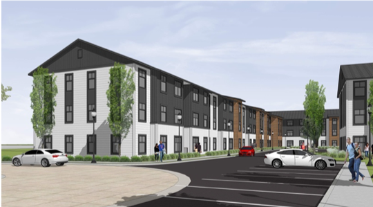 This rendering shows an $18 million  purpose built, multifamily housing development that will be built at 509 W. Line Ave., Ruston.