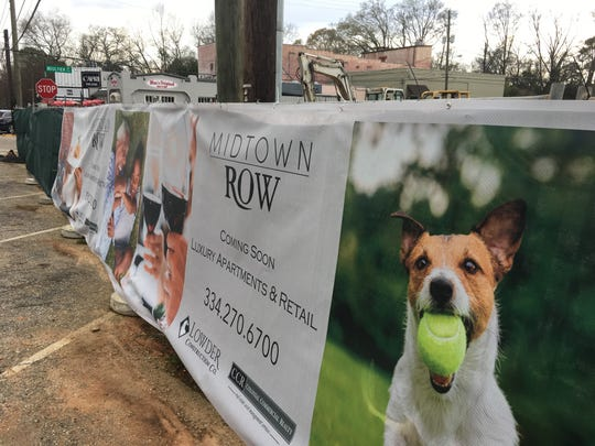 Site work continues for Midtown Row on East Fairview Avenue in Montgomery.
