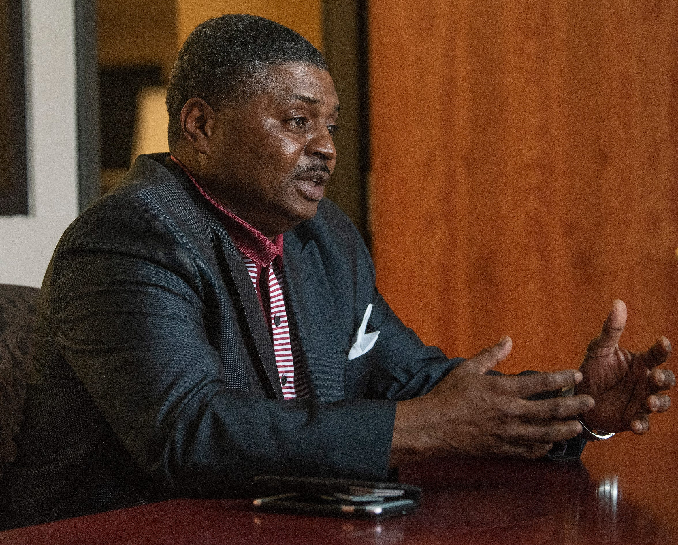 C.C. Calhoun who is running for City Council in Montgomery, Ala., is shown on Thursday March 14, 2019.