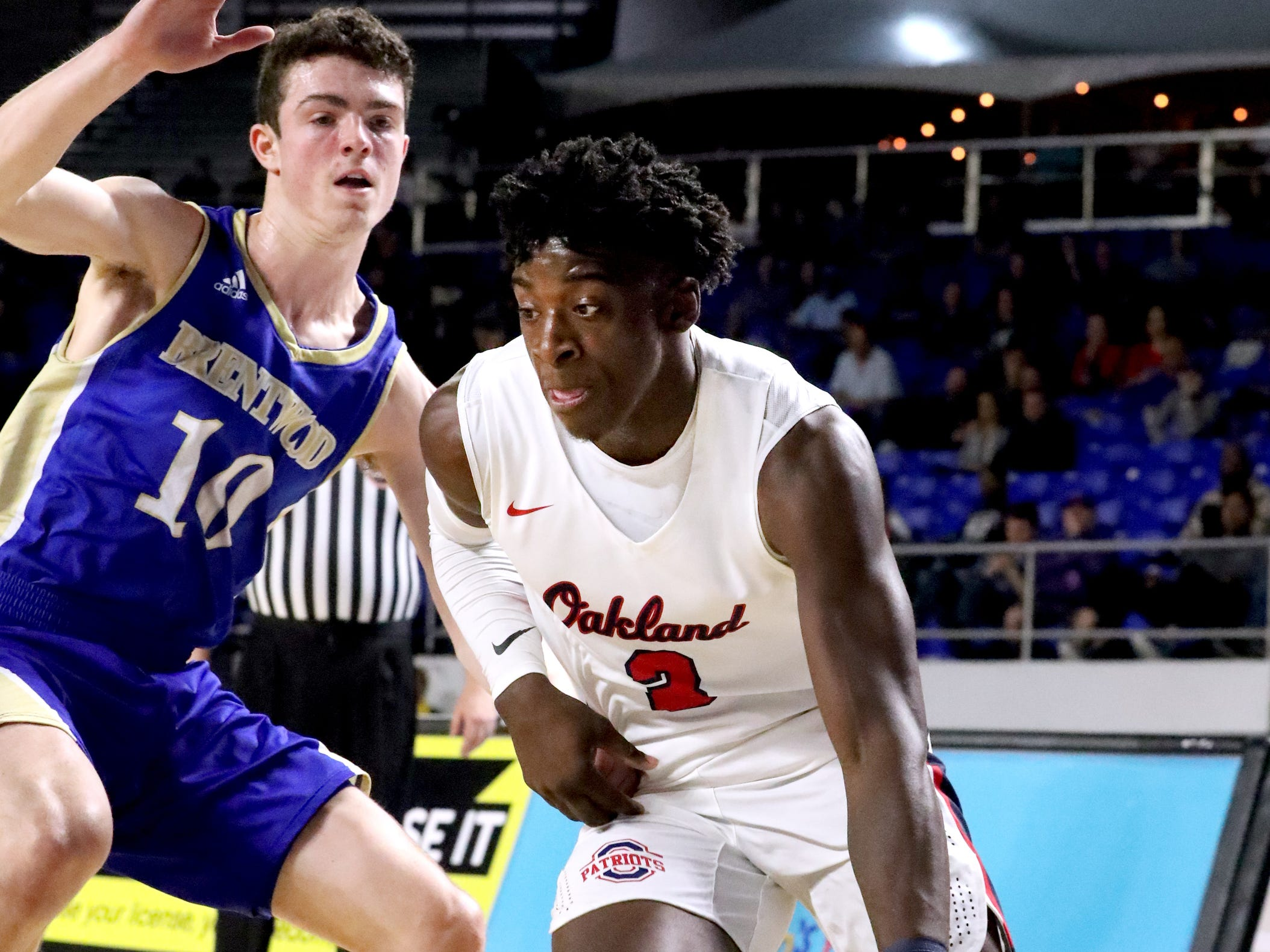 during the quarterfinal round of the TSSAA Class AAA Boys State Tournament, on Thursday, March 14, 2019, at Murphy Center in Murfreesboro, Tenn.
