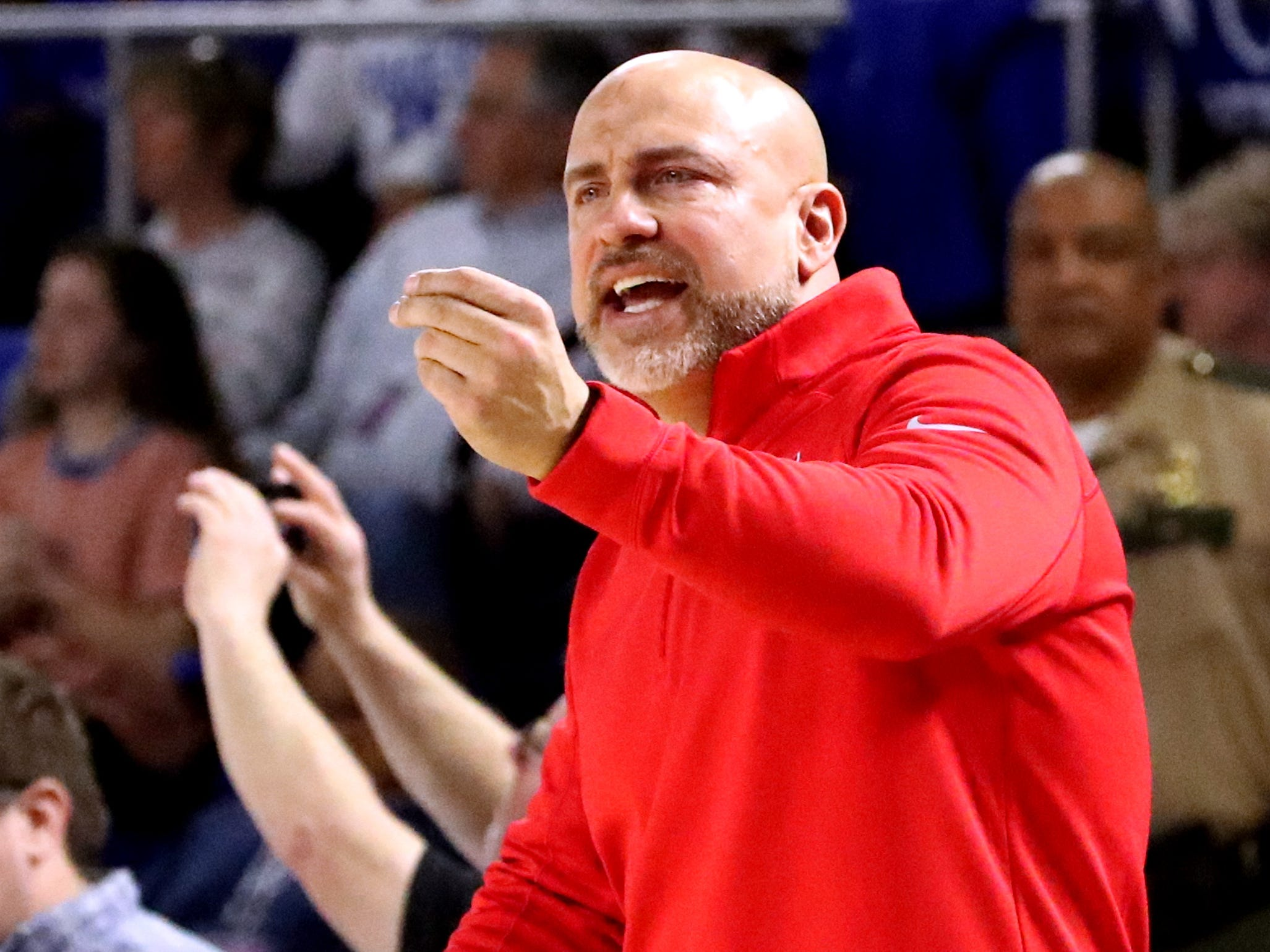 Oakland's head coach Troy Bond on the sidelines during the quarterfinal round of the TSSAA Class AAA Boys State Tournament against Brentwood, on Thursday, March 14, 2019, at Murphy Center in Murfreesboro, Tenn.
