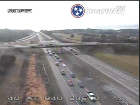 Westbound lanes of Interstate 40 outside Lebanon are closed, due to a jackknifed tractor trailer in Wilson County.