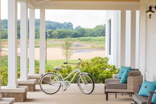 Bike riding is encouraged at Durham Farms, an active lifestyle community in Sumner County.