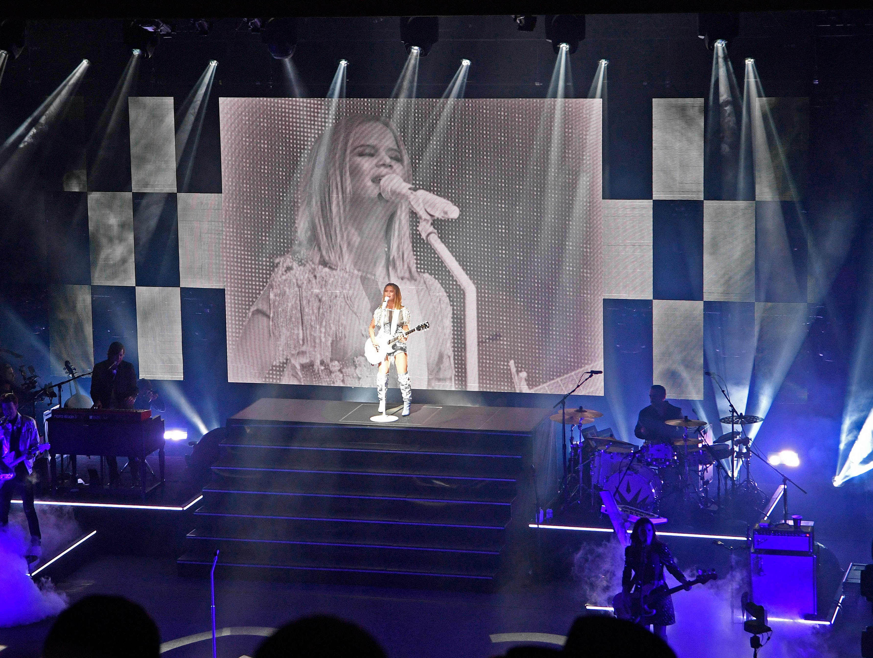 Maren Morris performs during her GIRL The World Tour 2019 at the Ryman Wednesday, March 13, 2019, in Nashville, Tenn.