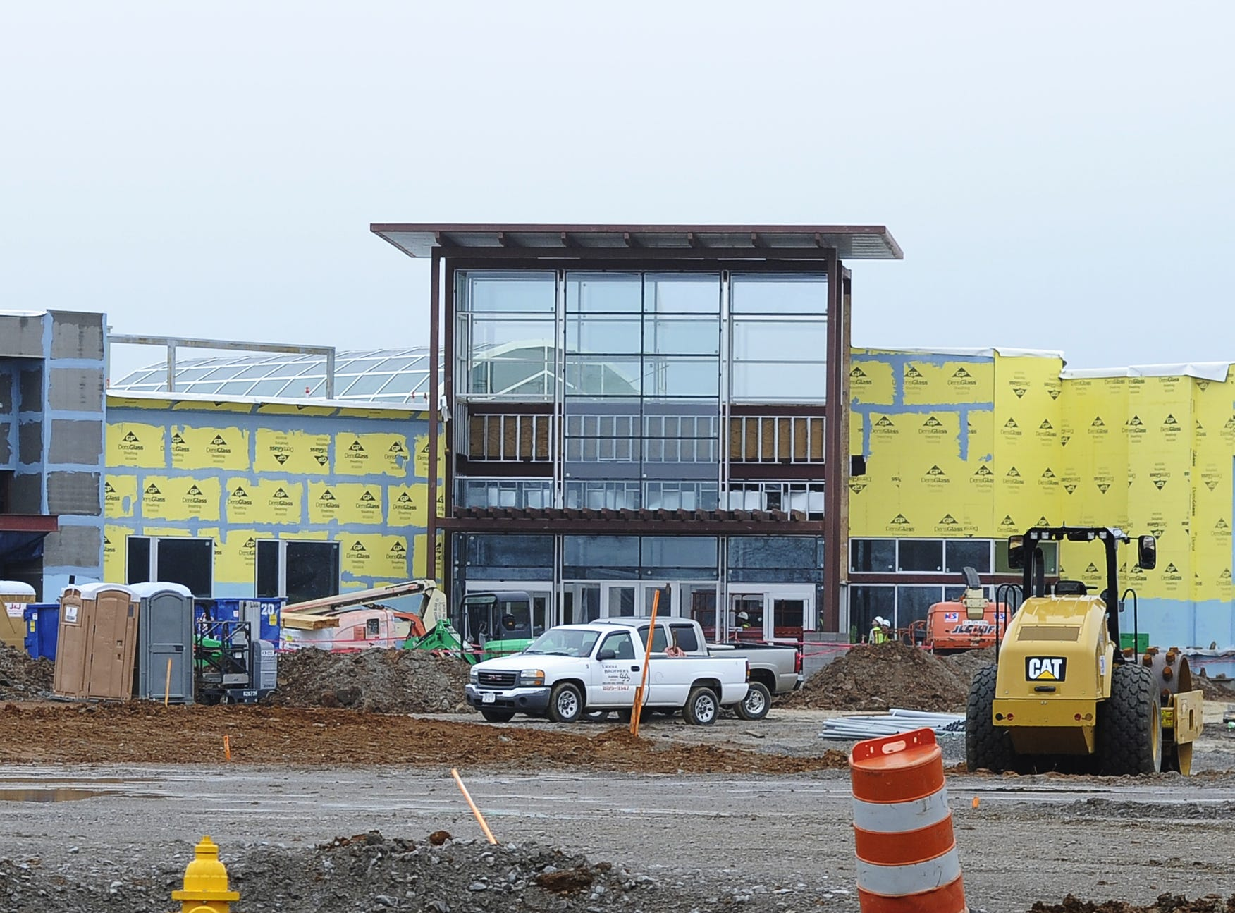 Shelley Mays / The Tennessean Construction continues of new stores at CoolSprings Galleria, where a Sears store was once located.