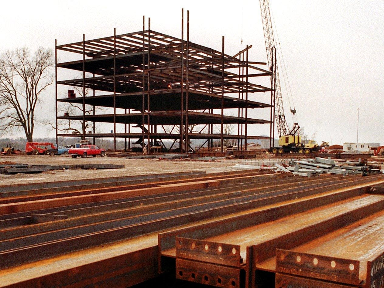 Construction has started on Five Corporate Centre in the Cool Springs area in 1996.