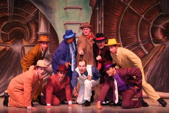 "Performances continue this weekend of ""Guys & Dolls"" at the Naples Players' Sugden Community Theatre in downtown Naples."