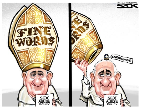 Pope on sex abuse, enforcement.