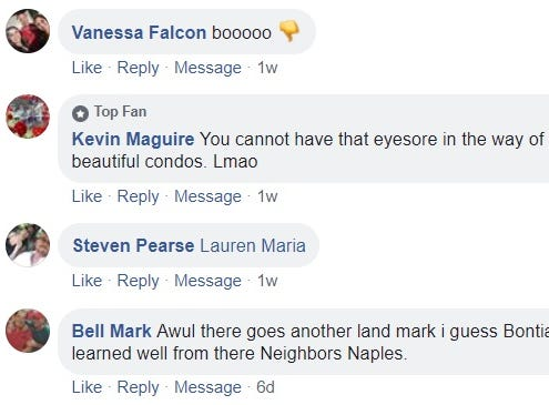 Readers comment about a Bonita Springs water tower's demolition on the Naples Daily News Facebook page.