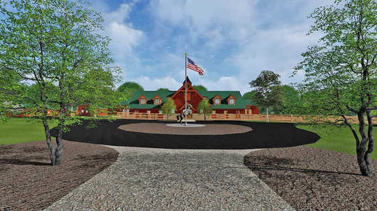 Artist rendering  of entrance to Patriot's Farm
