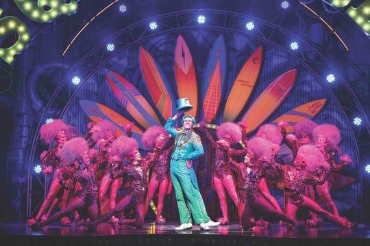 """Maplewood resident Gavin Lee as Squidward Tentacles in """"SpongeBob SquarePants,"""" the Broadway musical."""