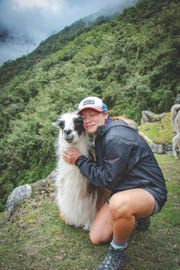 Felicia Lee, who grew up in Wayne, travels to Peru and befriends a llama.