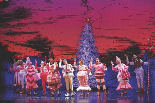 """Cast members of """"How the Grinch Stole Christmas! The Musical."""""""
