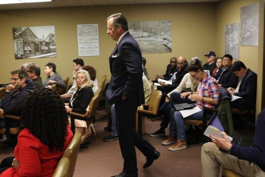 Englewood Cliffs Mayor Mario Kranjac town meeting room on March 14, 2019.