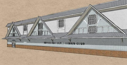 An artist's rendering of the Northeast Table Tennis Club.