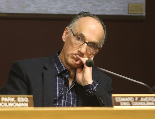 Councilman Edward Aversa during the town council meeting on March 14, 2019.