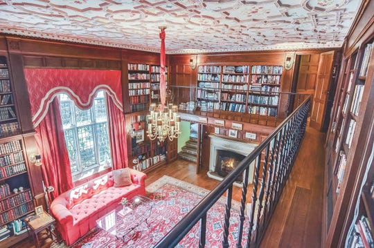 The library in the home of Dorothea Benton Frank in Montclair.