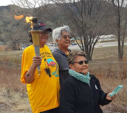A torch relay at the Mescalero Elderly Center celebrated the 2019 Senior Olympics in Albuquerque.