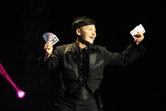 Cards are only part of the varied acts performed by the Illusionists March 21 at the Spencer Theater.