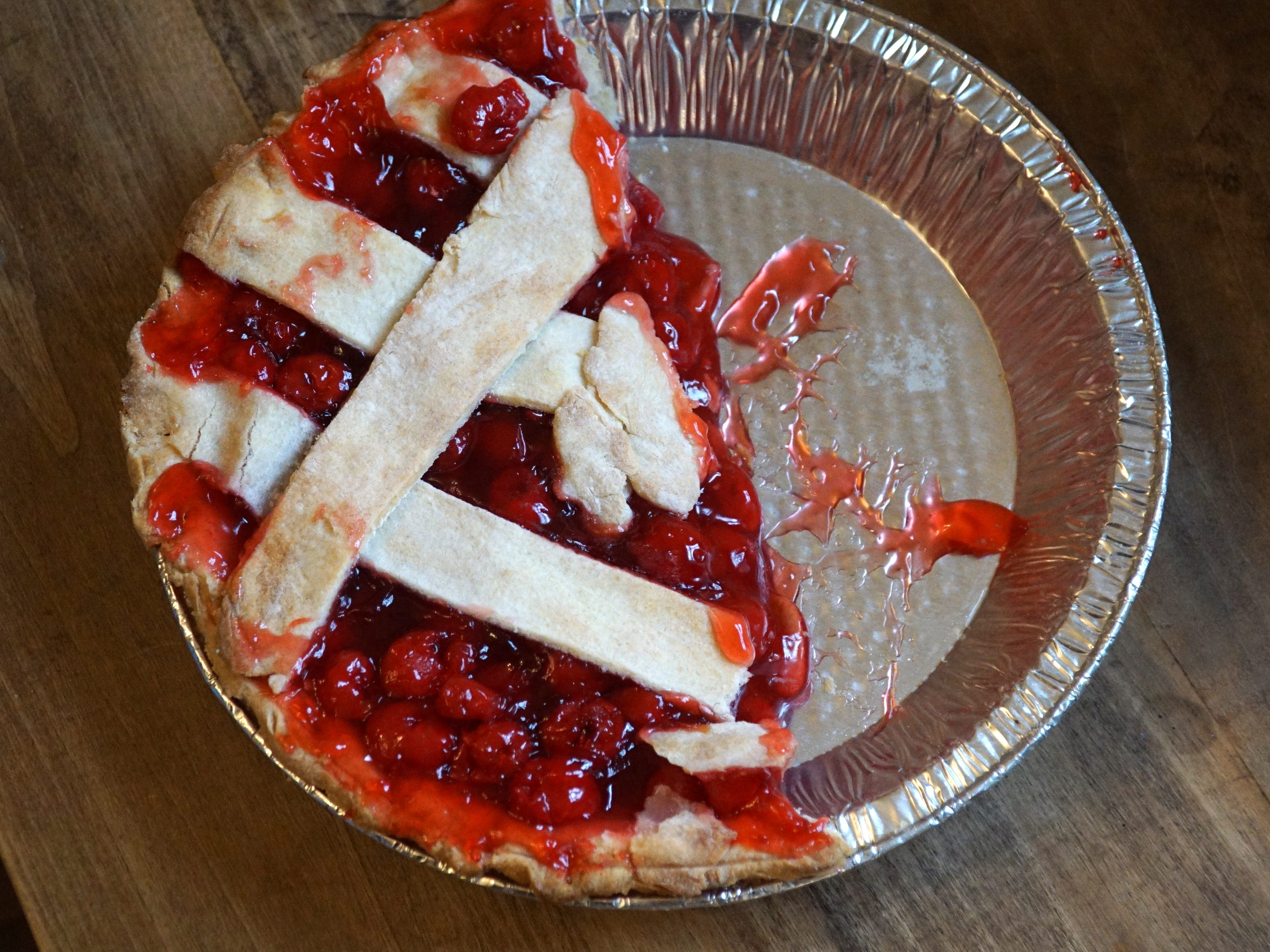 A cherry pie awaits the hungry at Northville's Cady Inn on March 14.