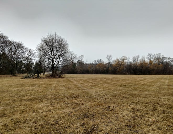 The site where a proposed luxury apartment complex could go along Seven Mile in Livonia.