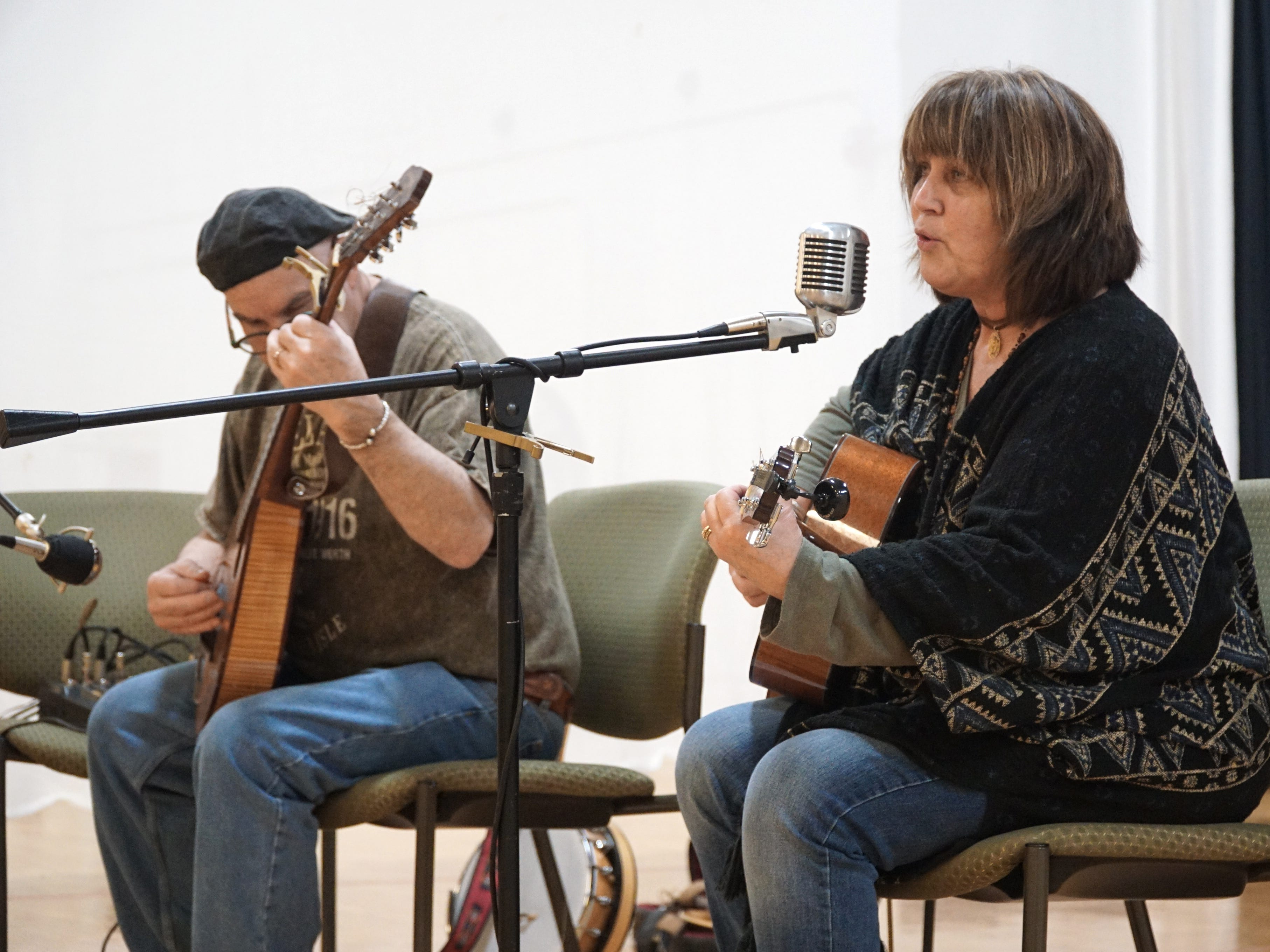 Ziggie Zeitler, left, and Susan O'Rourke performed for the St. Patrick's Day luncheon crowd at the Northville Community Center.