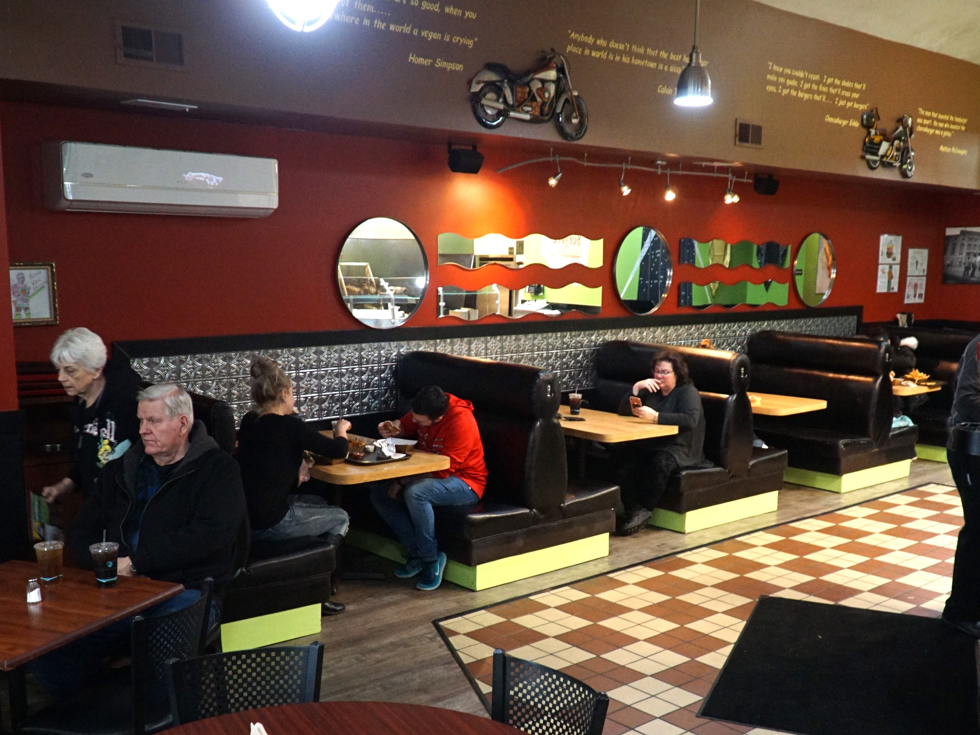 The Burger Joint has seating for about 32 customers.