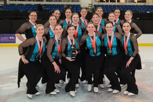 The Allegro! Synchronized Skating team won the gold medal at the national championship in March, 2019.