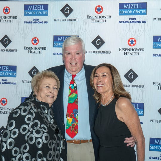 Ginny Foat with Fred Noble from Wintec Energy and Patti Delgado from Las Casuelas Restaurants.
