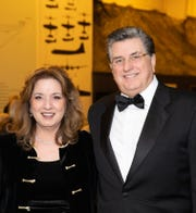 Catharine Reed, Program Director of the H.N. & Frances C. Berger Foundation (Diamond Sponsor) and Ted Giatas