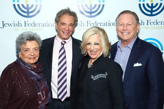 L-R Major Sponsor Barbara Fremont, Bruce Landgarten, CEO, Jewish Federation of the Desert and Presenting Sponsors Helene Galen and Jamie Kabler.
