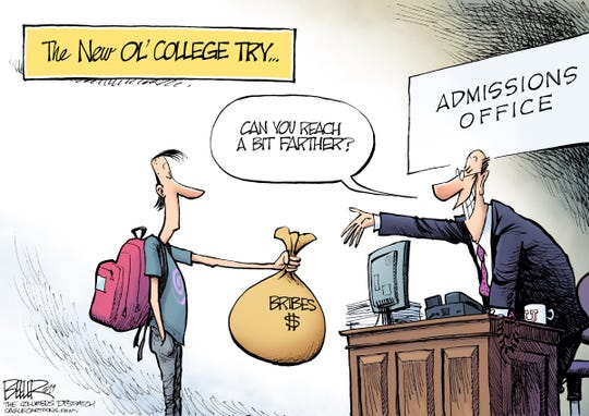 Nate Beeler of The Columbus Dispatch, OH, drew this cartoon.