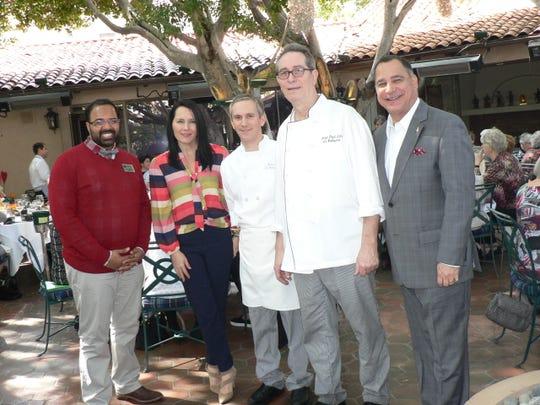 Josh Zahid, Jillian Payne, Chef Laurent Dellac, Chef Jean Paul Lair and Patrick Evans