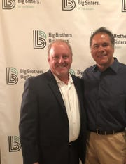 Committee Chair Bob Inglehart and Honoree Jim Plunkett