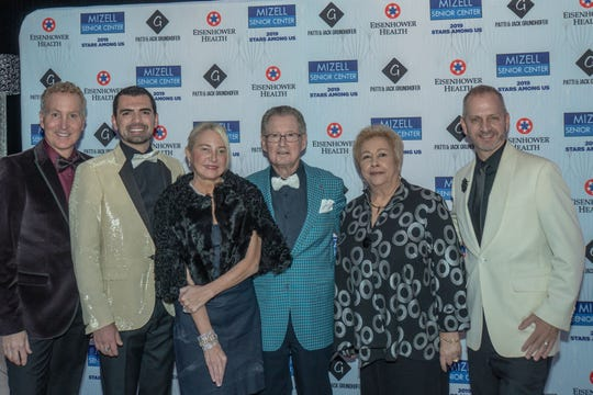 Geoff Kors, Dennis Flaig, Presenting Sponsors Patti and Jack Grundhofer, Ginny Foat and Clint Moore