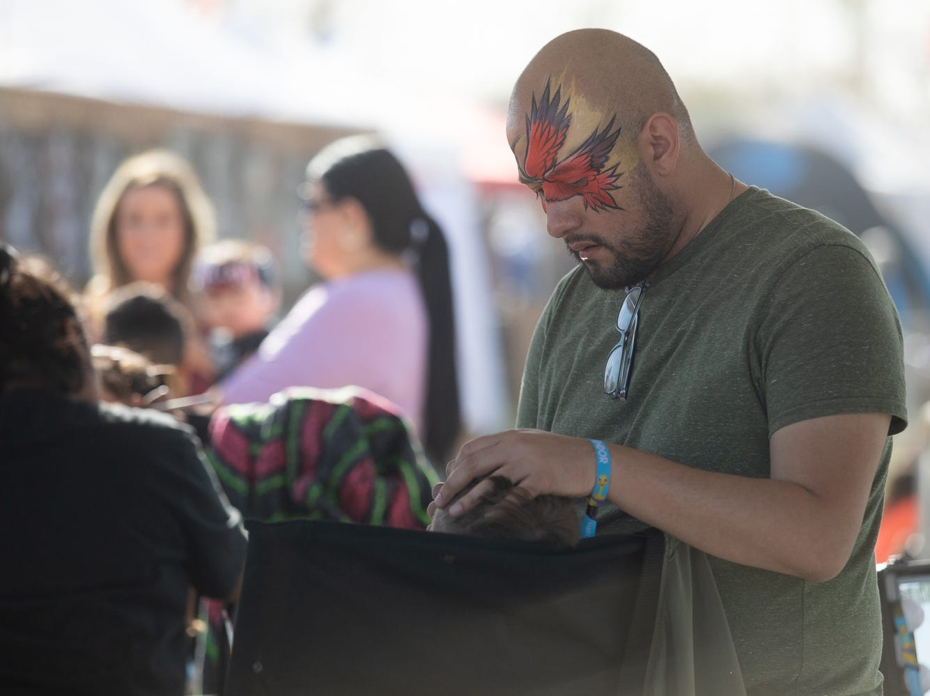 Face painting was a hit at the Chandler Ostrich Festival on Sunday, March. 10, 2019.