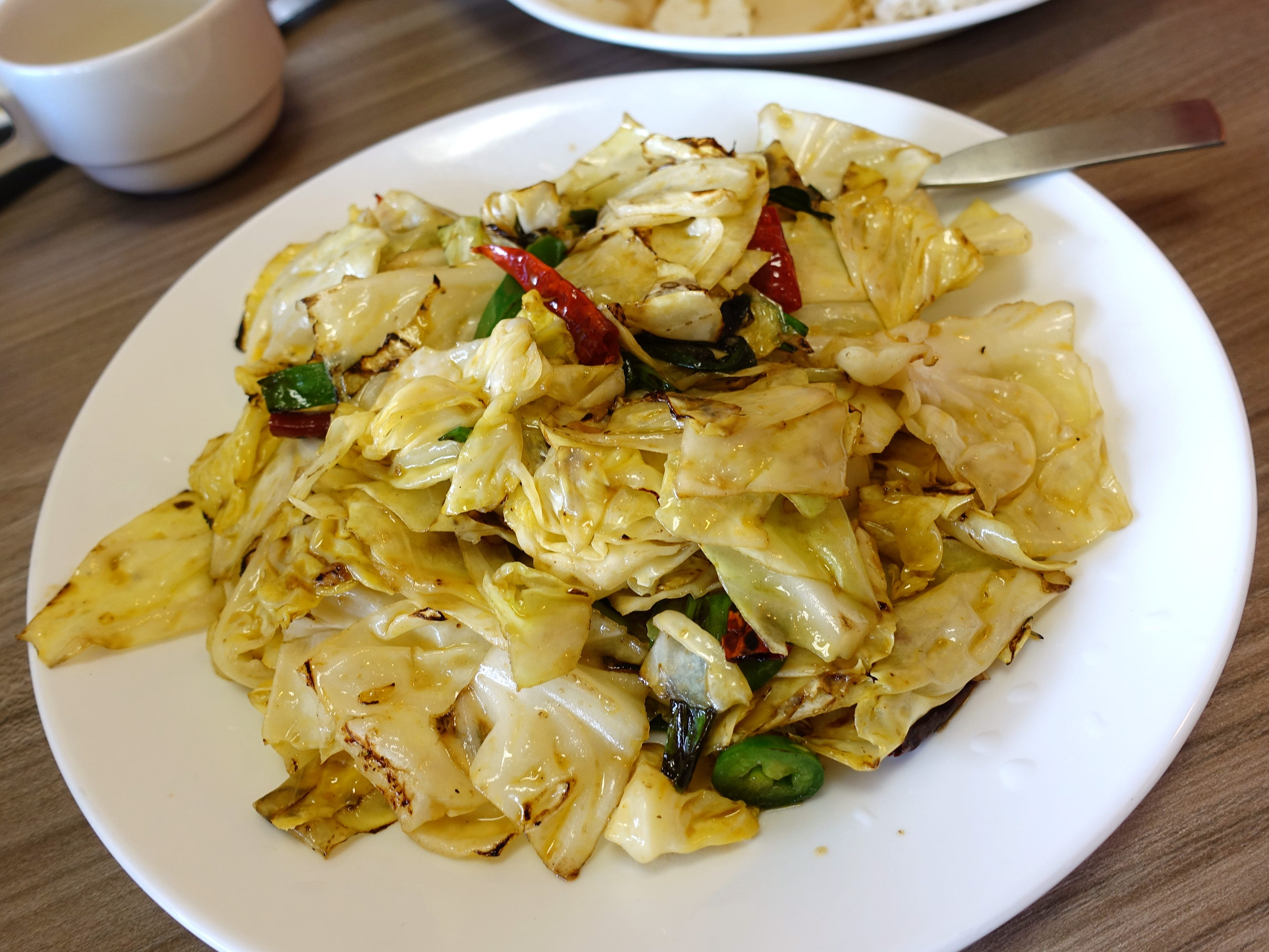 Cabbage with chile, garlic and ginger at Xian Fusing Cafe in Mesa.