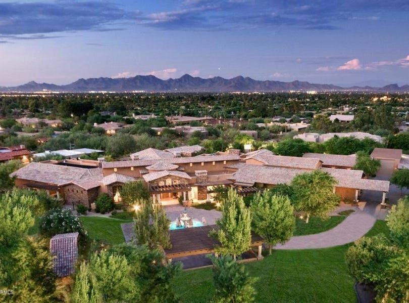 Barry and Karen Meguiar purchased this mansion in Paradise Valley for $5.5M.