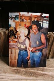 Ed Keeylocko (right) and a friend, in a photo found in the Blue Dog Saloon.