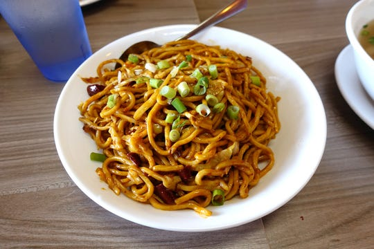Wuhan style spicy lo mein at Xian Fusing Cafe in Mesa.