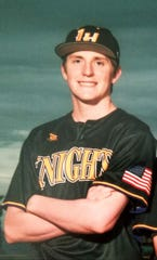 Lake Havasu pitcher Cameron Bagshaw poses for a team photo