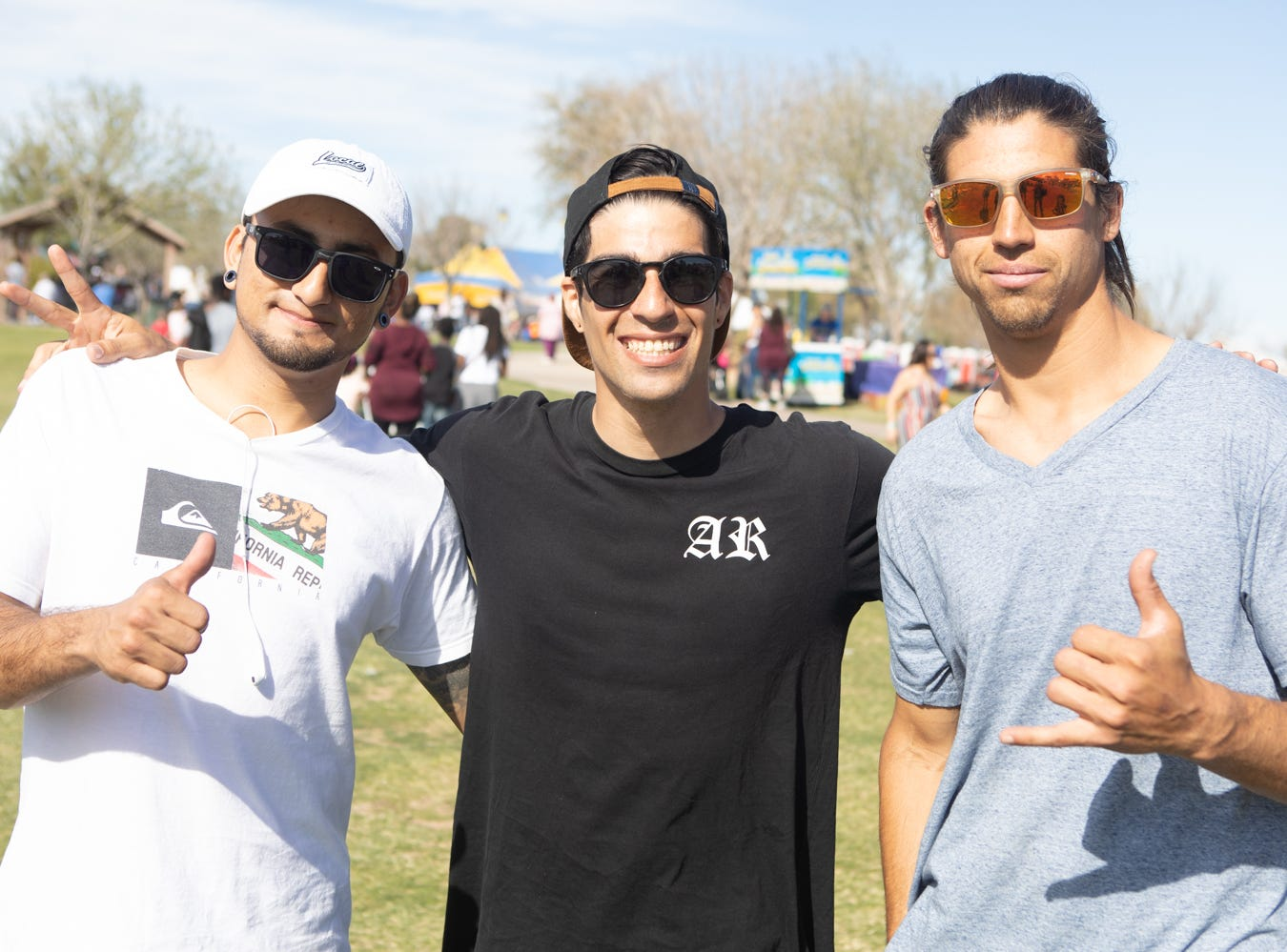 These fellas enjoyed good hangs at the Chandler Ostrich Festival on Sunday, March. 10, 2019.