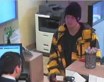Scottsdale police released this photo of a suspect involved in a bank robbery at the Wells Fargo Bank near Frank Lloyd Wright Boulevard and Loop 101.