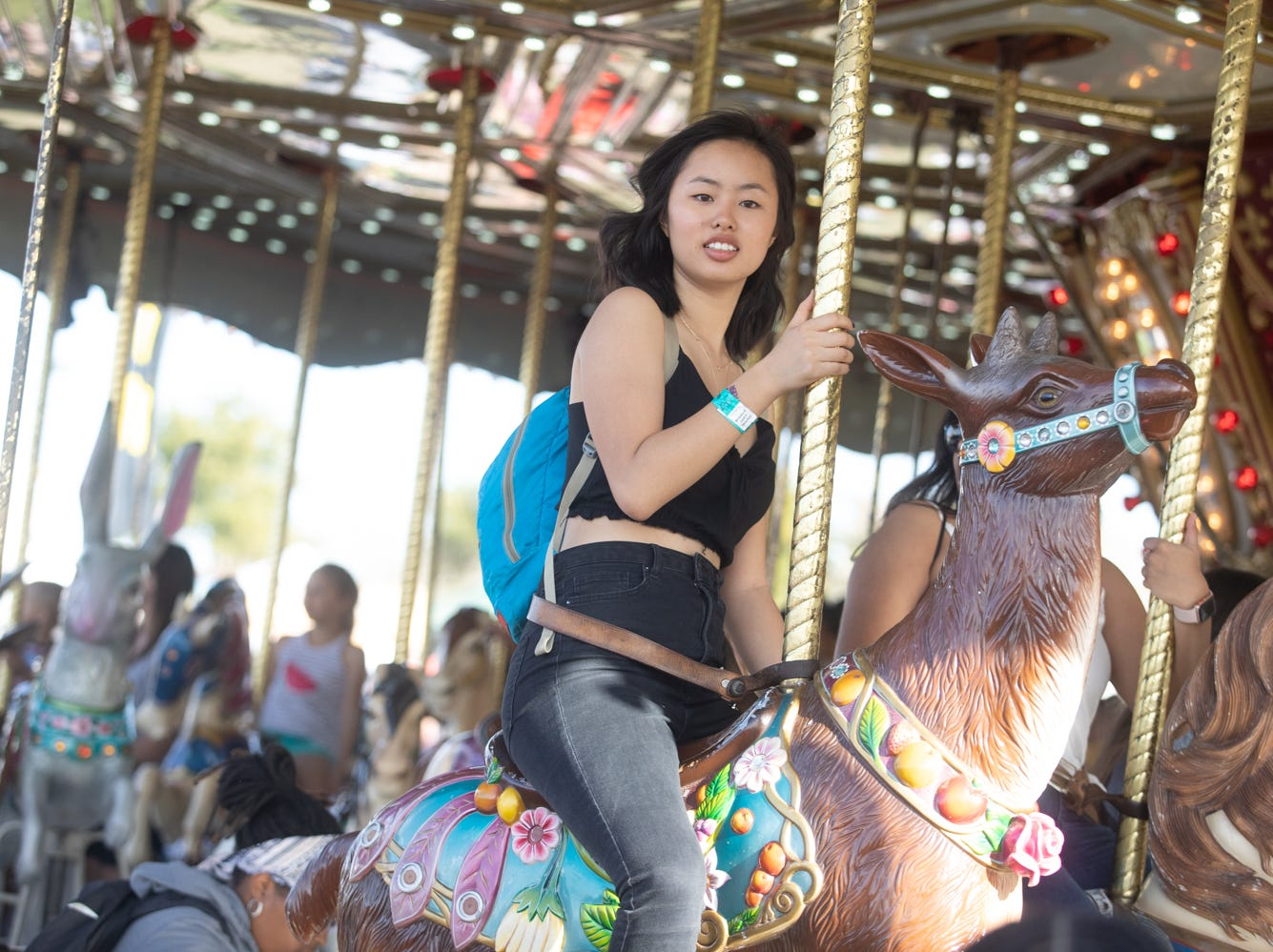 The carousel was packed all day at the Chandler Ostrich Festival on Sunday, March. 10, 2019.