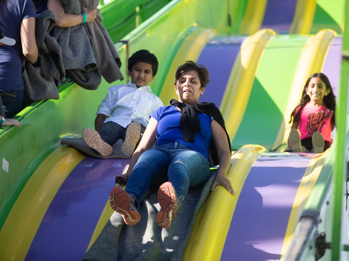 The super slide was a popular attraction at the Chandler Ostrich Festival on Sunday, March. 10, 2019.
