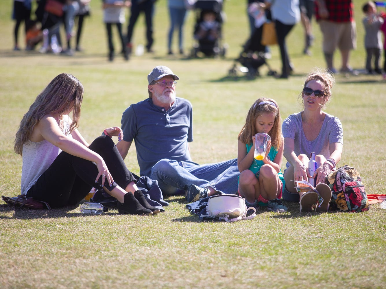 Families enjoyed listening to live music of the Chandler Ostrich Festival on Sunday, March. 10, 2019.