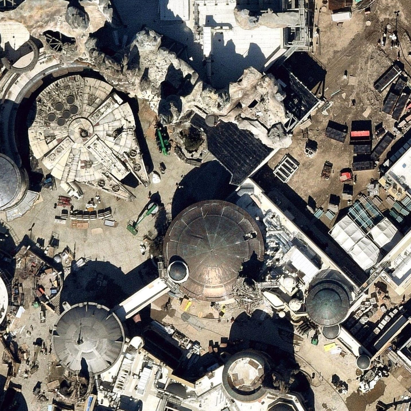 Here's what Disney's Star Wars land looks like from space