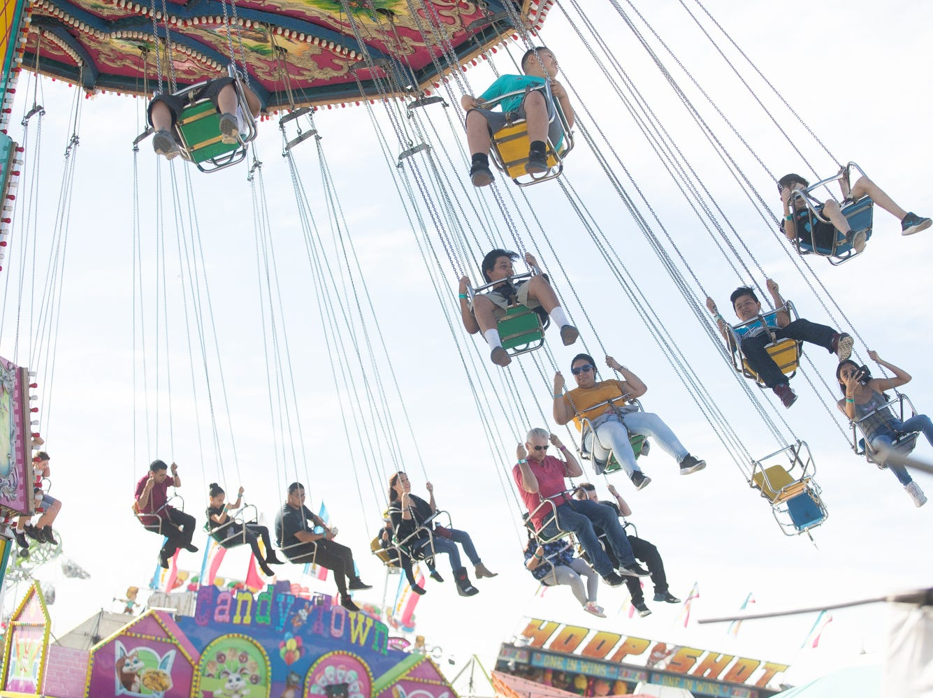 The rides were popular with kids and adults alike at the Chandler Ostrich Festival on Sunday, March. 10, 2019.