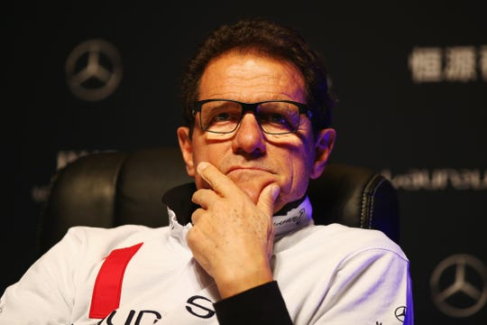 SHANGHAI, CHINA - APRIL 14:  Laureus World Sports Ambassador Fabio Capello speaks during a Goals For The Future for Football debate at the Shanghai Grand Theatre prior to the  Laureus World Sports Awards  on April 14, 2015 in Shanghai, China.  (Photo by Ian Walton/Getty Images for Laureus)
