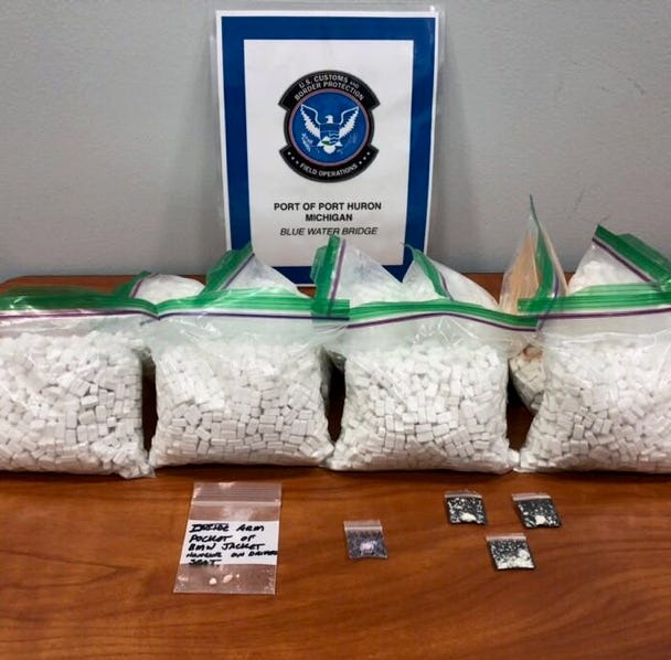 Nearly 10 pounds of meth seized at Blue Water Bridge